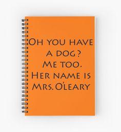 Mrs. O'Leary Cuaderno de espiral