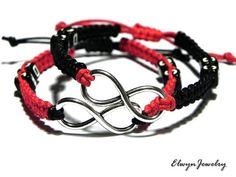 Personalized Infinity Bracelets - Long Distance Relationship Gift by ElwynJewelry