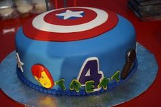 Birthday And Party Cakes The Avengers Captain America Birthday Cake, Avengers Birthday Cakes, Avenger Cake, Avenger Party, Superhero Cake, Boy Birthday, Birthday Ideas, Batman Birthday, Birthday Stuff