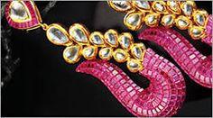 Colourful jewellery crafted by Birdhichand Ghanshyamdas jewellers