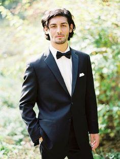 Classic black tie attire | Photo by Erich McVey | Suit by Lazaro