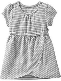 Striped-Jersey Tulip Dresses for Baby - old navy