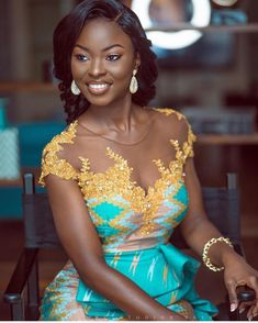 Latest Kente Styles For Engagements 2019 Latest Traditional Dresses, African Traditional Wedding Dress, African Fashion Traditional, African Prom Dresses, Latest African Fashion Dresses, African Dress, Kente Dress, African Lace Styles, African Wedding Attire