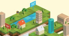 Isometric City Map Builder Vector AI & EPS 10 Download by Designers Revolution, via Behance