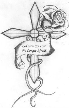 Amazing Collection of cross tattoo designs for both men and women. Here we will discuss the background of cross tattoos including the kinds of crosses and the preferences of men and women on their body placement Cool Rose Drawings, Art Drawings Sketches, Tattoo Sketches, Tattoo Drawings, Easy Sketches, Pencil Drawings, Rose Drawing Simple, Simple Drawings, Tattoo Art
