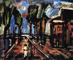 Georges Rouault (France 1871-1958) Biblical Landscape (n.d.) oil on canvas 46.1 x 56.5 cm ""