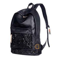 Leather Ananchors In Navy Blue And White Backpack Daypack Elegant Ladies Travel Bag Women Men
