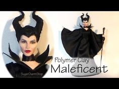 Maleficent Inspired (Poseable) Doll - Polymer Clay Tutorial - YouTube