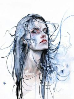 As fascinantes aquarelas de Agnes-Cecile