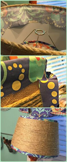 Details for recovering a lamp shade for a repurposed lamp. Custom Shades, Create And Craft, Repurposed, Crafts, Craft Ideas, Room, Home Decor, Bedroom, Manualidades