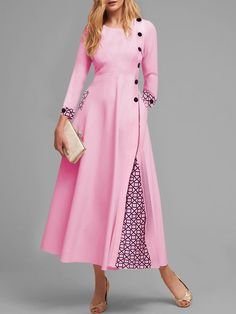 General Plus Pink Formal Dresses X-line Dress Elegant Pink Polyester Round Neckline Spring Long Sleeve Maxi Fall S Winter M L XL Geometric XXL Hollow Out Dress Maxi Dress With Sleeves, Long Sleeve Crop Top, The Dress, Maxi Dresses, Cheap Dresses Online, Super Cute Dresses, Color Rosa, Plus Size Dresses, Dresser
