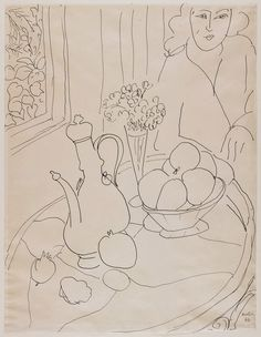 Henri Matisse Berlin Drawing Room: Contour Lines from Matisse to David Hockney - HM, Still life drawing