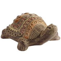 Terracotta Turtle -  He is so much cuter in person!  He's on my deck right now soaking up the sun!!