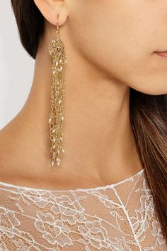 ROSANTICA Penelope gold-dipped freshwater pearl earrings