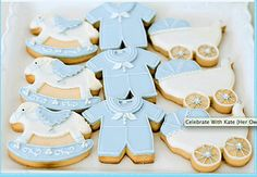 Vintage and Classic Baby Shower Cookies