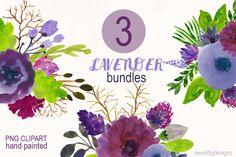 watercolor Flower Bundles by cherylwarrick on Creative Market