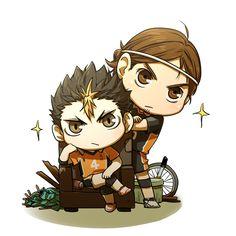 Azumane & Nishinoya (coc33a) | Haikyuu!! #anime #chibi