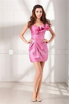 Short/ Mini Satin Strapless Hourglass Sleeveless Special Occasion Dresses