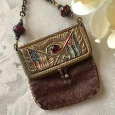 Antique Spanish American War Coin Purse by StoryologyDesign