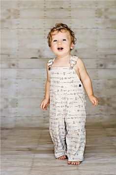 Adorable overalls with a puppy print.