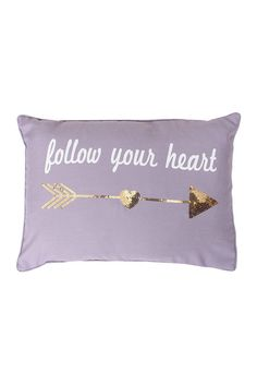 Follow Your Heart 14x20 Pillow - Nirvana/Gold