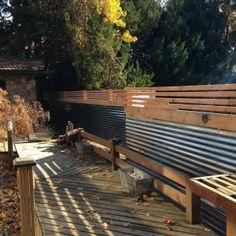 Modern Corrugated Metal Fence