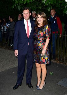 Jack Brooksbank (L) and Princess Eugenie of York attend The Serpentine Galleries Summer Party co-hosted by Chanel at The Serpentine Gallery on June 28, 2017 in London, England.