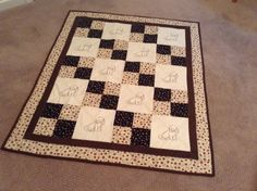 Brown Dog Quilt by mommomsquilts on Etsy