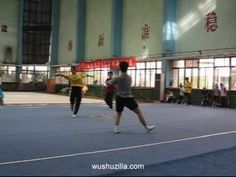 Members of the Shanghai Wushu Team and students at the Shanghai Tiyu YunDong JiXu Xue Yuan (Shanghai School of Sports and Exercise Science) practicing for an. Shanghai, Basketball Court, Exercise, Sports, Ejercicio, Hs Sports, Sport, Tone It Up, Work Outs