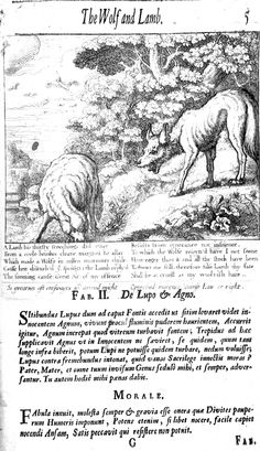 2. De lupo et agno (1687), illustrated by Francis Barlow