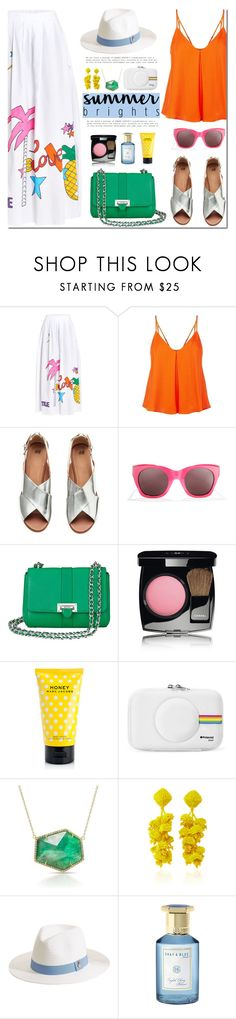 """""""Summer Brights"""" by mada-malureanu ❤ liked on Polyvore featuring Circus Hotel, Rebecca Minkoff, Elizabeth and James, Aspinal of London, Chanel, Marc Jacobs, Anne Sisteron, Sachin + Babi, Melissa Odabash and Shay & Blue"""