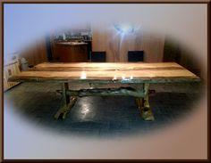 Blue Pine Drop Leaf Table