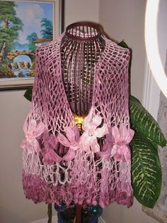 How to Crochet The Motif Flower Shawl 2 ways