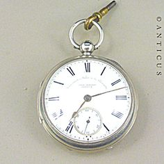 Silver Pocket Watch, Chronometer Maker To The Admiralty Silver Pocket Watch, Vintage Pocket Watch, Time Is Money, Grandfather Clock, Antique Watches, Pocket Watches, Watches For Men, Brooch, Pendant