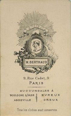 BERTHAUD - Paris, succursales Boulogne s/mer, Abbeville, Evreux, Dreux