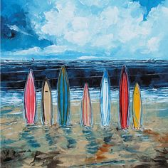 You'll love the Surf Boards Painting Print on Wrapped Canvas at Wayfair - Great Deals on all Décor & Pillows products with Free Shipping on most stuff, even the big stuff.