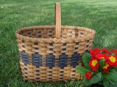 The Car Tote Basket  -  Handwoven in Blue -. $40.00, via Etsy.