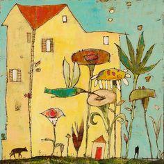 Jane Filer good, but imagine way more humming birds and flowers