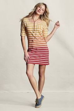 Women's Sunwashed Striped Jersey Dress