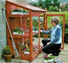 Mini Greenhouse Plans - Outdoor Plans and Projects | WoodArchivist.com