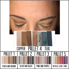 Addiction Eye shadow palettes make applying eyeshadow easy. They are so buttery soft and very easy to blend. Each palette has seven colors which will provide you with endless looks. Palette 1️⃣ is warm with shades of peach and brown. 2️⃣ is cool with shade of black and silver. 3️⃣ is cool with shades of pink and purple. 4️⃣ is cool with shades of copper and teal. And last but certainly not least 5️⃣ is warm with shades of gold, orange, and red.  Go ahead. Just try to pick a favorite.