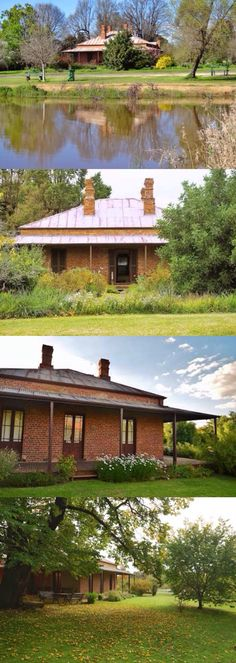 Want to know about shed plans? Then here is without doubt the right place! Australian Country Houses, Australian Homes, Country Home Exteriors, Country House Plans, Narrow House Designs, Brick Cottage, Red Bricks, Facade House, Old Houses