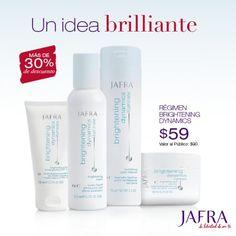 Aclara tu piel y ahorra 30% en Brightening Dynamics, formulados con Complejo BrightenSMART clínicamente comprobado. http://jafra.me/3bgs