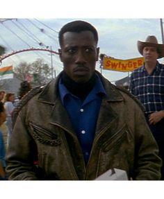 Passenger 57 Wesley Snipes Brown Leather Jacket