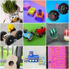10 brinquedos e artesanatos com reciclagem para o Dia das Crianças | Como fazer em casa Camping With Kids, Montessori, Kids Toys, Alice, Diy, Dolls, Pets, Holiday, Home Decor