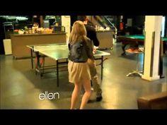 Emma Stone doing a Dance Dare on the Ellen show.   So funny.dance off
