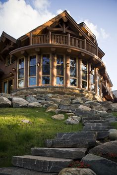 This Log Home was Handcrafted by Hirsh Log Homes. If you are interested in learning more about their beautiful work, you can vist their website from the link at the botto..