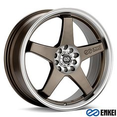 17x7 Enkei EV5 Matte Bronze w Machined Lip WheelsRims 5x1001143 4467700245ZP -- Continue to the product at the image link. (This is an affiliate link and I receive a commission for the sales)