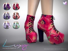 Piacenza boots recolors at Luxy Sims • Sims 4 Updates