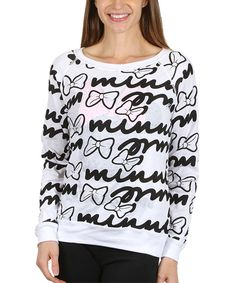 Take a look at this Minnie Mash White Reversible Sweatshirt - Women today!
